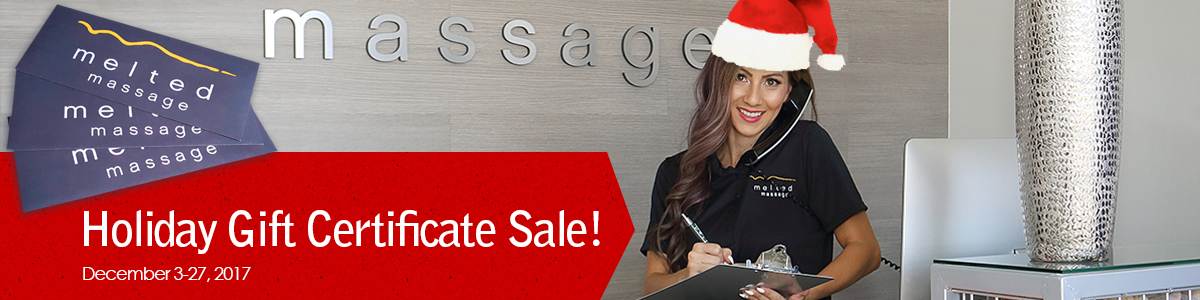 holiday gift certificate sale